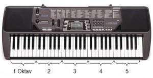 keyboard 5 oktaf